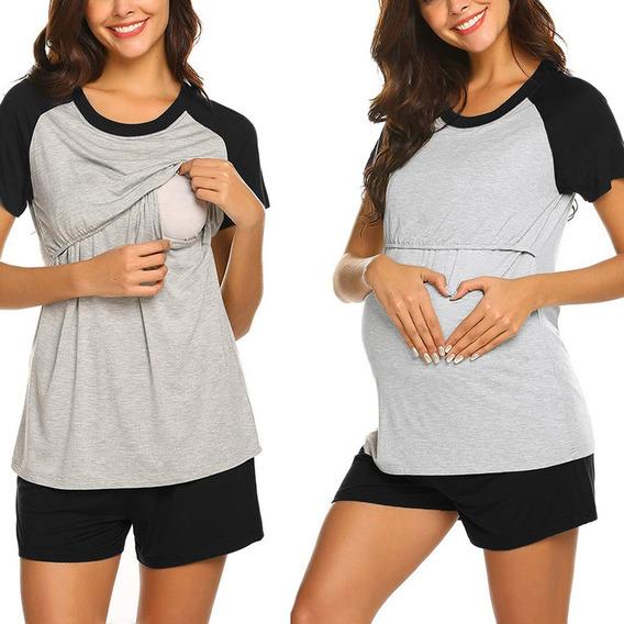 Conjunto Playera Bebé Maternidad Ropa Lactancia Embarazada