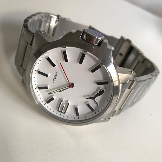 Relógio Puma Prata Fundo Branco !