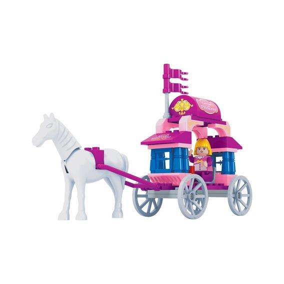 Brinquedo P/montar - Carro De Princesa - 57 Peças