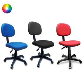 Cadeira Secretária Giratória P/ Escritório Recepção Preta