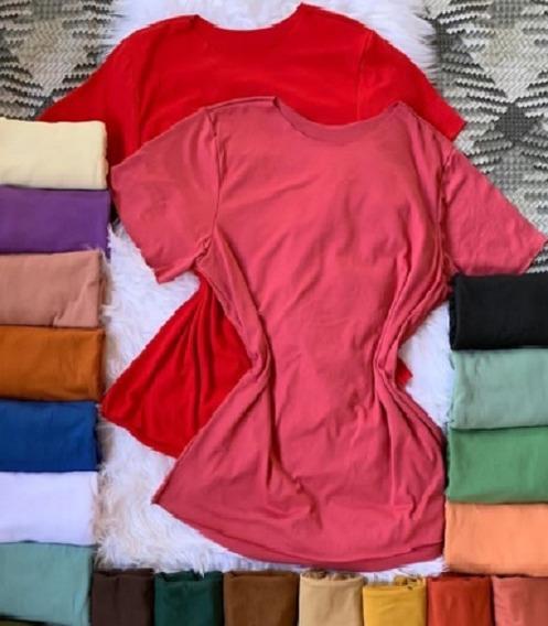 Kit 4 T-shirts Blusas Feminina Roupas Atacado Revenda