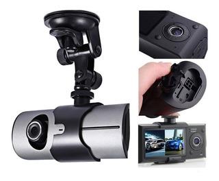 Camara Dvr R300 Doble Lente Para Carro Full Hd Sensor Y Gps