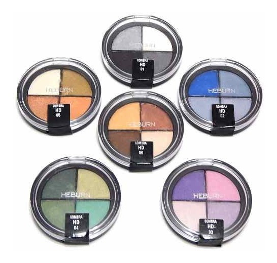 Heburn Maquillaje Profesional Sombras 709 Ojos Cuartetos Hd