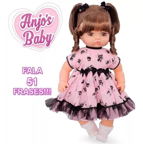 Boneca Anjos Baby Brinquedos Anjo Menina Brincar Castanho