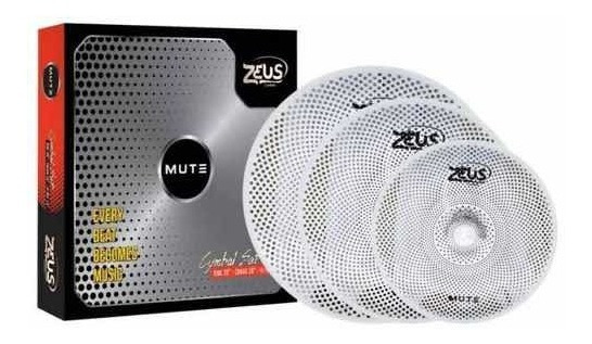 Kit Pratos Zeus Mute Set C 14/16/20 Tipo Bronz Mute