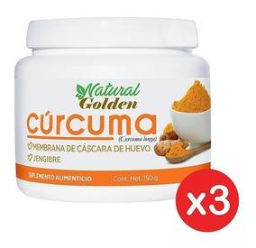 Paquete 3 Cúrcumas + Membrana De Cáscara De Huevo Y Jengibre