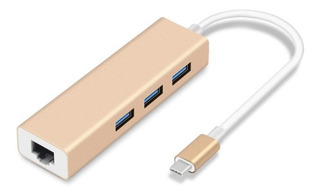 Convertidor Tipo C Red Giga Hub Usb 3.0 Adaptador Macbook