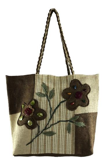 Bolsa Feminina Grande Tipo Sacola Comercial Textil 17008