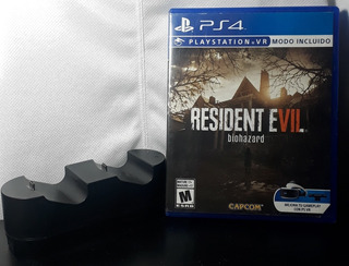 Resident Evil 7 Y Cargador Doble Para Joysticks: Ps4