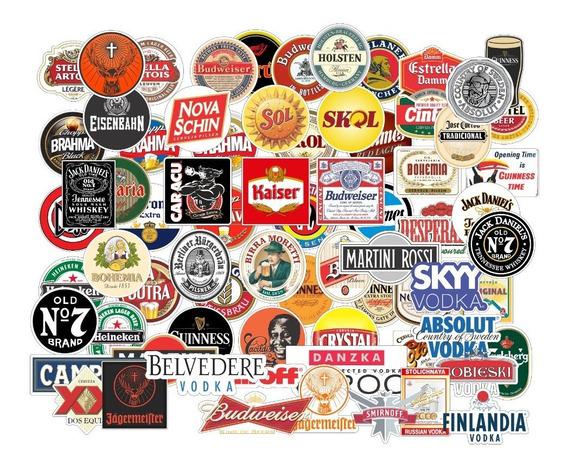 Adesivos Bebidas Cerveja Whisky Tequila Diversos 76un