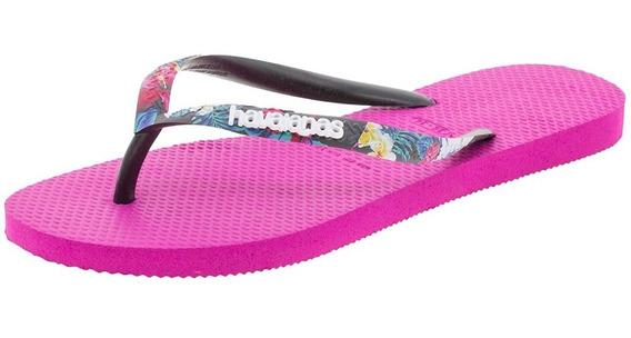 Chinelo Feminino Slim Strapped Havaianas - 4141305 Pink