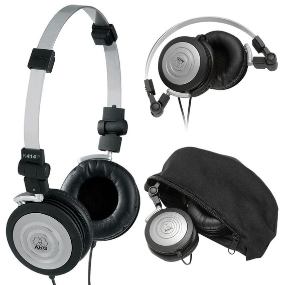 Fone De Ouvido Akg K414 Profissional Headphone Para Djs
