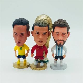 4 Mini Craques Soccerwe Messi Ronaldo Neymar Taça Da Copa