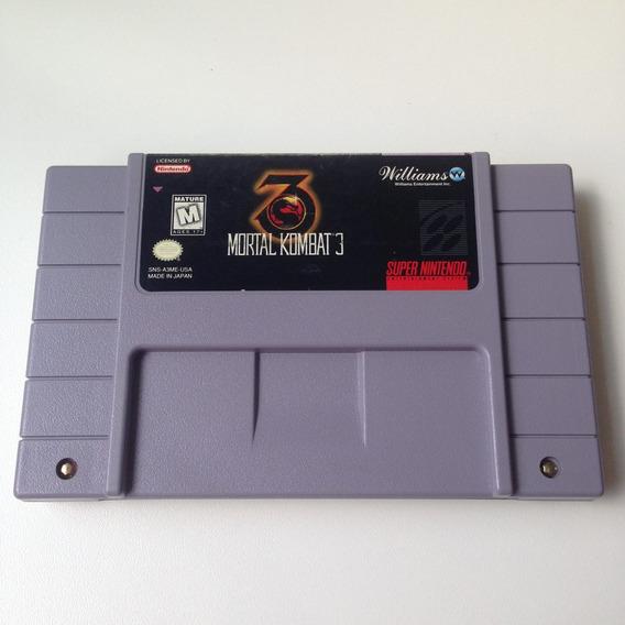 Fita Mortal Kombat 3 Original - Super Nintendo - Snes