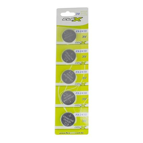 Bateria De Lítio Cr2430 3v Blister Com 5 Un