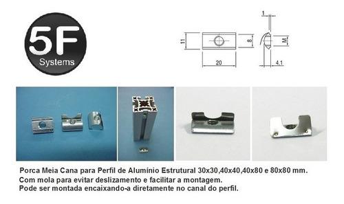 Porca Meia Cana Pack 12 Peças - Base 20/30/40