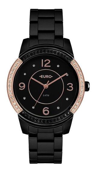 Relógio Euro Feminino Color Mix Glam Preto Eu2036ymq/4p