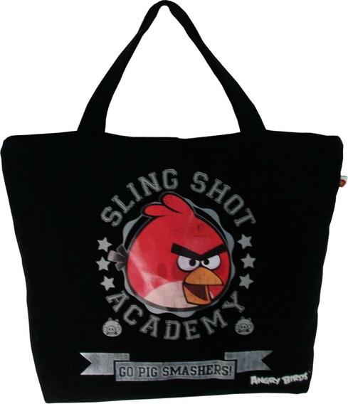 Bolsa Shopping Bag Tote Angry Birds 1 Bolso Preta Santino
