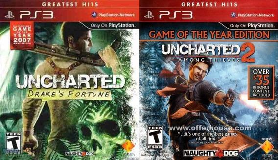 Uncharted 1 E 2 Ps3 Via Psn