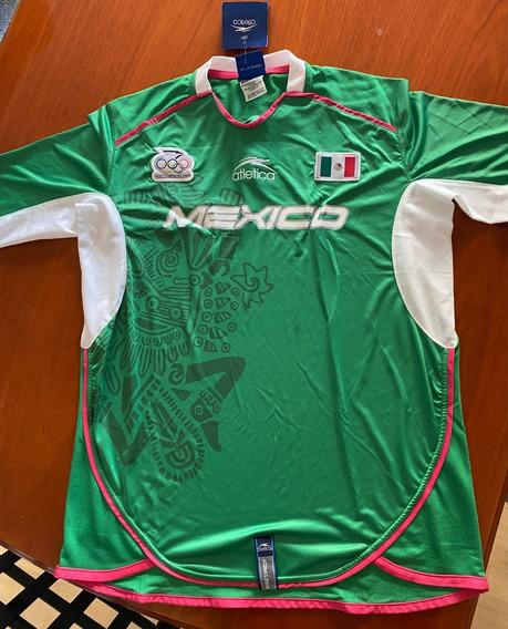 Atlética Jersey México Selección Olímpica Atenas 2004