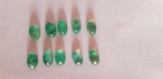 Pedras Preciosas Naturais Esmerada Lote 10 (dez) 4,4 Quilate