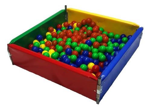 Cercadinho Piscina De Bolinhas 1,5 X 1,5m Infantil Colorida