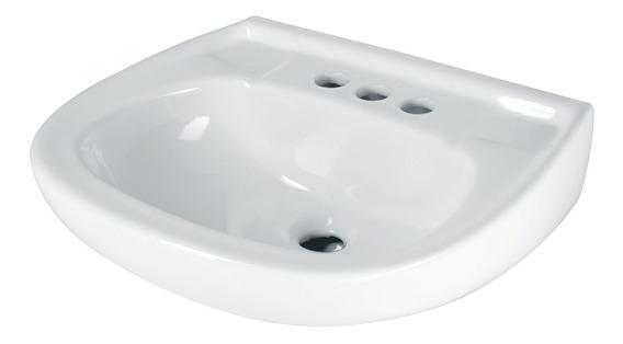 Lavabo Cerámico Con Rebosadero, Blanco 44002 Foset