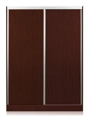 Ropero Placard 2 Puertas Corredizas Brillante Aluminio 1,50