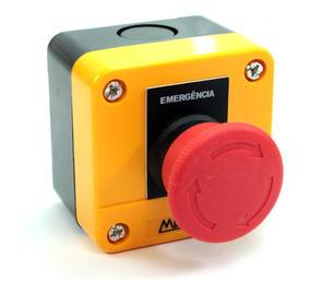 Caixa Plástica Amarela C/botão Emergência- 1nf Cp1-e