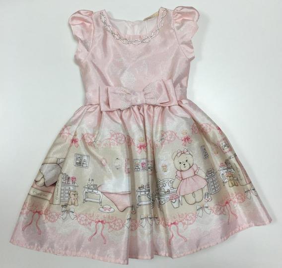 Vestido Infantil Estampa Ursinho Petit Cherie 11.10.31092