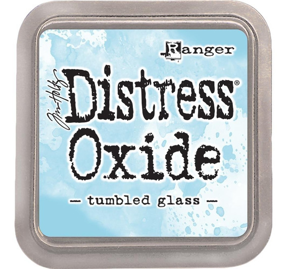 Tinta Distress Oxide Scrapbook Ranger Tumbled Glass