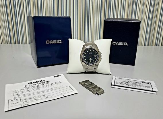 Relógio Casio Prata Metal Unissex - Mtp-1244