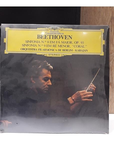 Lps Novos Beethoven Sinfonia 8 E 9 Orq. Filarm De Berlim