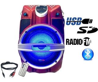 Bafle Portatil Recargable 6.5 Bluetooth Usb Sd Fm La Roca - Cuotas