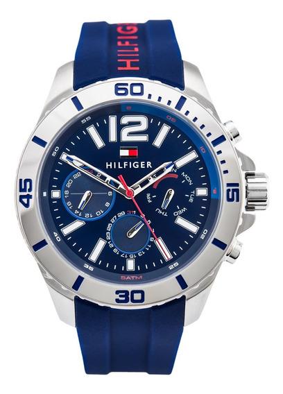 Relogio Tommy Hilfiger Summer Sport Silicone Azul 1791142