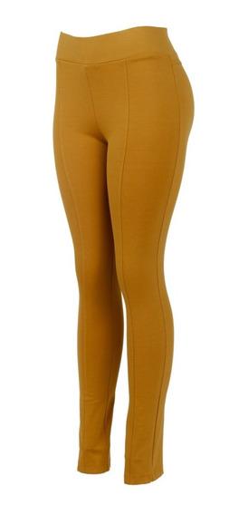 Pantalon De Vestir Entallado Tela Gruesa, Tiro Alto, Básico.