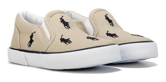 Zapatillas Panchas Originales Polo Ralph Lauren Niño Caballo