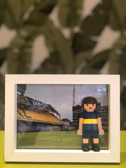 Cuadro Fútbol Playmobil Equipos Boca River Varios