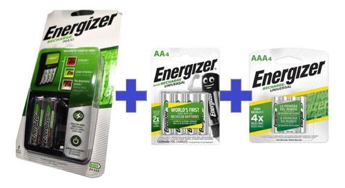 Cargador Energizer Maxi Con Recargables Aa Y Aaax4 Kit Combo