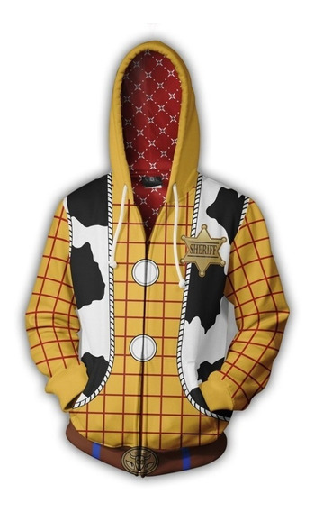 Blusa Jaqueta Toy Story Woody Buzz Cosplay Fantasia Camisa