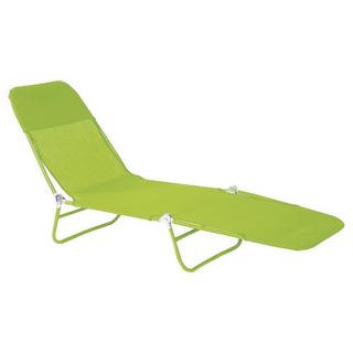 Reposera Cama Plegable Acero Textileno 10 Posiciones - Verde