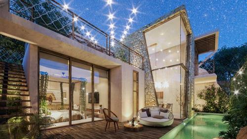 Imagen 1 de 18 de Increíble Casa De 3 Hab. Con Skyview, Y Alberca Propia Y Tobogán En Tulum P3457
