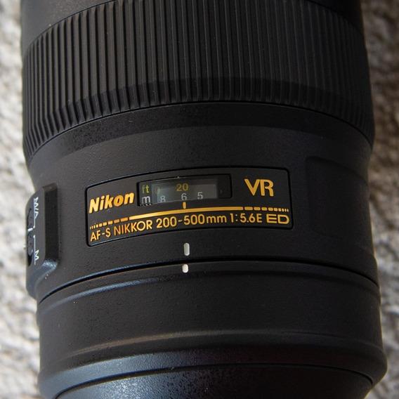 Lente Nikon 200-500mm F/5.6e Ed Vr Af-s (seminova Dos Eua)