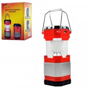 Lanterna De Acampamento Carrega Celular 110v-220v