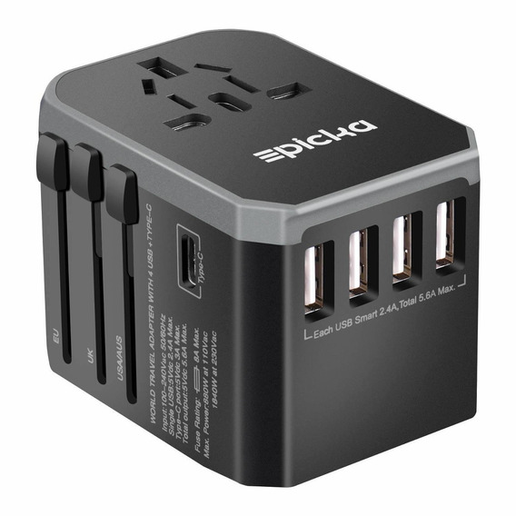 Universal Travel Power Adapter - Epicka All In One Worldwide