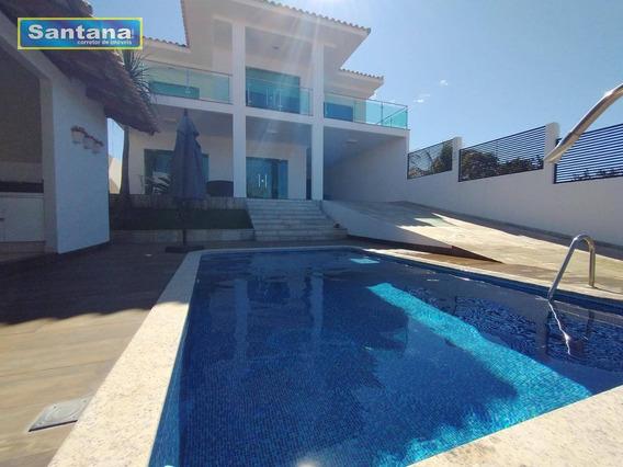 Casa Alto Padrao Vista Para O Lago Sao 4 Suites Venda, 350 M² Por R$ 1.500.000 - Condomínio Náutico Prive Das Caldas - Caldas Novas/go - Ca0198