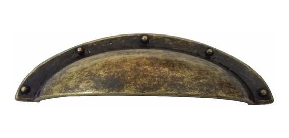 Puxador Envelhecido Movel Rustico Tipo Concha 1 Un C1056