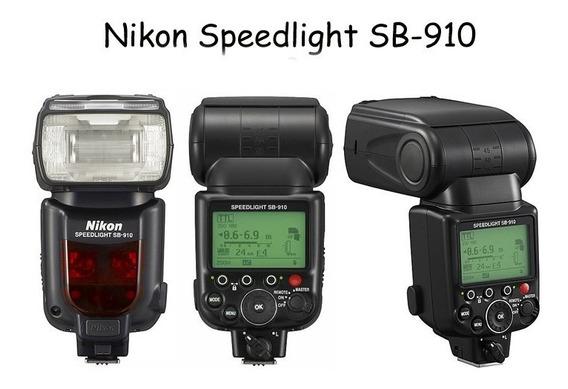 Flash Nikon Speedlite Sb-910 (lâmpada Nova E Revisado)