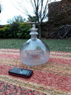 Lindo Antiguo Botella Botellon Atrapa Moscas Con Tapa