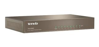 Switch 8 Puertos Gigabit Tenda Teg1008d Caja Metalica